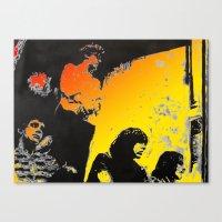 velvet underground Canvas Prints featuring Velvet Underground by Matt Pecson