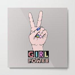 Girl Power by hey K Metal Print