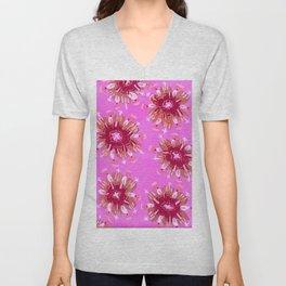 Raspberry Rose Unisex V-Neck