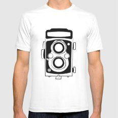 Twin Lens Reflex White Mens Fitted Tee MEDIUM