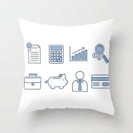 Time To Pay Taxes Throw Pillow