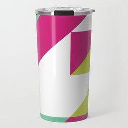 Hot Pink and Neon Chartreuse Color Block Travel Mug