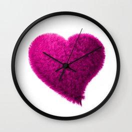 Pink heart, Pink love heart, Pink Heart art, Love heart print, Large heart print, Valentines Heart Wall Clock