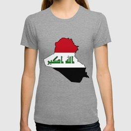 Iraq Map with Iraqi Flag T-shirt
