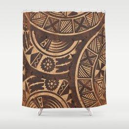 UrbanNesian Siapo, Ngatu, Masi Design Shower Curtain
