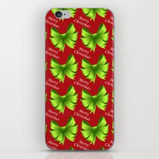Merry Christmas Bows iPhone & iPod Skin