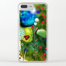 That´s how its got to be - Rupydetequila 2018 - Cactus nopal green and red polka dots Clear iPhone Case