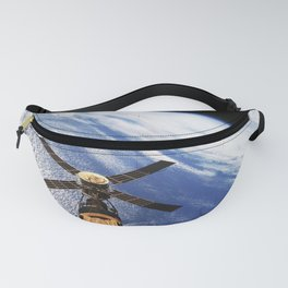 An overhead view of the Skylab space station cluster in Earth orbit Fanny Pack