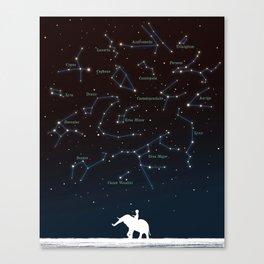 Falling star constellation Canvas Print