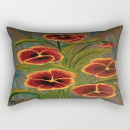 Pansies-2 Rectangular Pillow