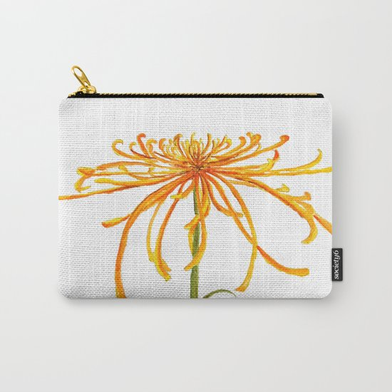 one orange chrysanthemum Carry-All Pouch