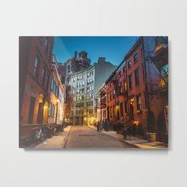Twilight Hour - West Village, New York City Metal Print