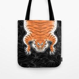 TIBETAN TIGER - GOLDEN (black) Tote Bag
