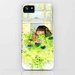 Leafy Window Box iPhone Case