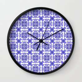 Classic European Blue Tiles Wall Clock
