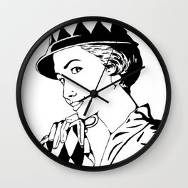 Casual 50's... (blak and white version) Wall Clock