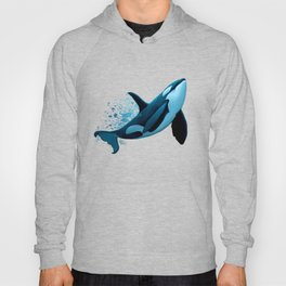 """""""The Dreamer"""" by Amber Marine ~ Orca / Killer Whale Art, (Copyright 2015) Hoody"""