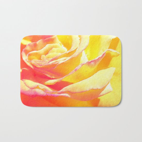 Love and Peace Pastel Rose Bath Mat