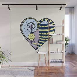 Freckled Moon Resting Sun Heart Wall Mural