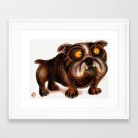 bulldog Framed Art Prints featuring Bulldog by Riccardo Pertici