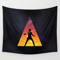jedi Wall Tapestries featuring Jedi Space Triangle by Raisya