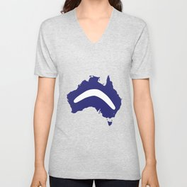 Australia Silhouette With Boomerang Unisex V-Neck