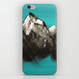 Turquoise Mountains by Noelle's Art Loft iPhone Skin