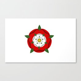 Tudor dynasty rose flag united kingdom great britain Canvas Print
