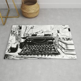 Shakespeare and Company Rug