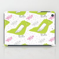 dragons iPad Cases featuring Dragons by LOLIA-LOVA
