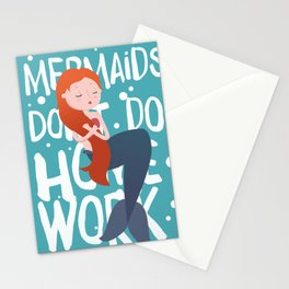 Mermaids don't do homework Stationery Cards