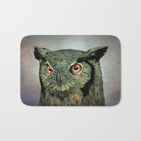 Owl - Red Eyes Bath Mat