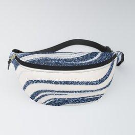 Textured Marble - Indigo Blue Fanny Pack