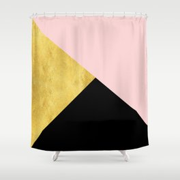 Color Bloc Triangles Shower Curtain