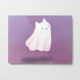 Lonely Little Ghost Cat Metal Print