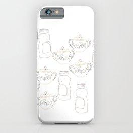 Honey bear and sugar bowl iPhone Case