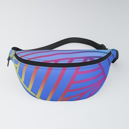 Rainbow Ombre Pattern with Blue Background Fanny Pack