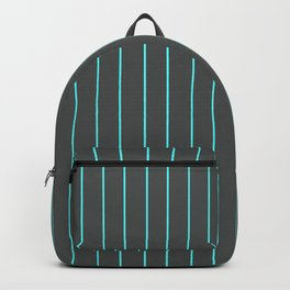 Gray with Blue Pinstripes Backpack
