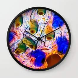 Abstraction Melt Wall Clock