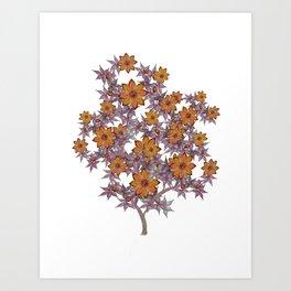 Dreamsicle Bush Art Print