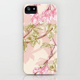 Flower Sketch iPhone Case