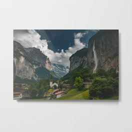 Lauterbrunnen Valley Metal Print