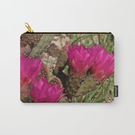 Beavertail Cactus in Bloom - II Carry-All Pouch