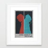 eternal sunshine of the spotless mind Framed Art Prints featuring Eternal Sunshine of the Spotless Mind - Poster by Edward J. Moran II