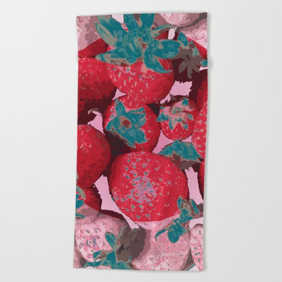 Strawberry Love (Lost Time) Beach Towel