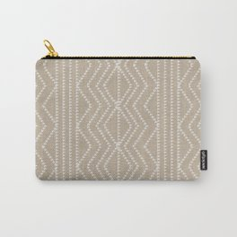 Cream Linen Beige Arrows Pattern Carry-All Pouch