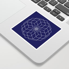 Minimalist Geometric Midnight Blue Sticker