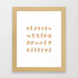 ASL Hand American Sign Language Gift Framed Art Print