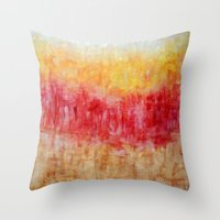 the strokes Throw Pillows featuring Strokes by Bonnie J. Breedlove