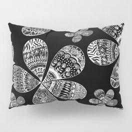 Storied Flowers (black & white) Pillow Sham